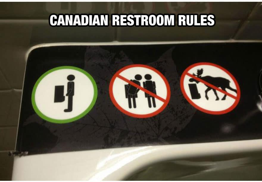 Canadian Restroom Rules