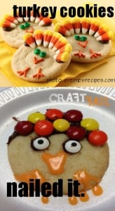 This person who made turkey cookies and failed spectacularly