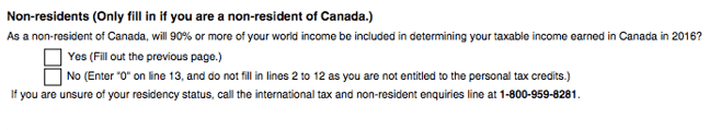 Tax in Canada TD form