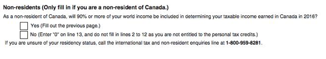Tax in Canada TD form